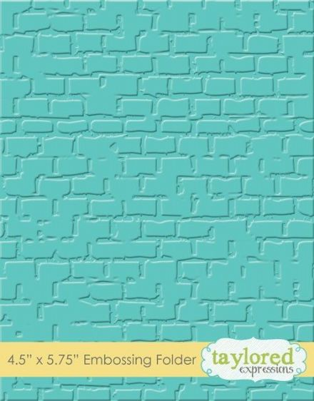 TEEF18 ~ BRICK~ Embossing folder ~ Taylored Expressions
